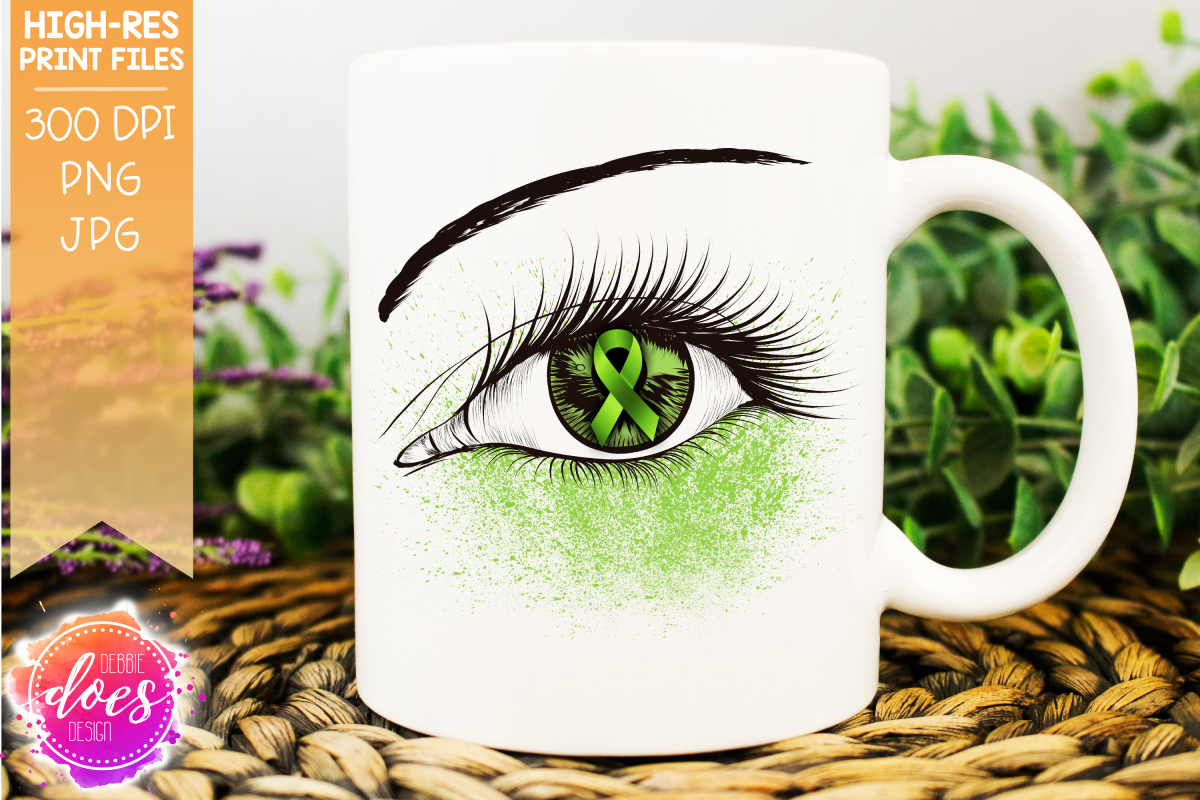Light Green Awareness Ribbon Eye - Printable Design example image 1