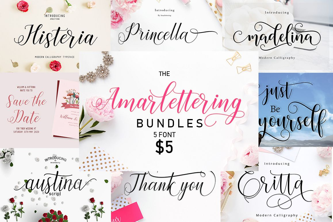 The Amarlettering Bundles Vol. I Only $5 example image 1