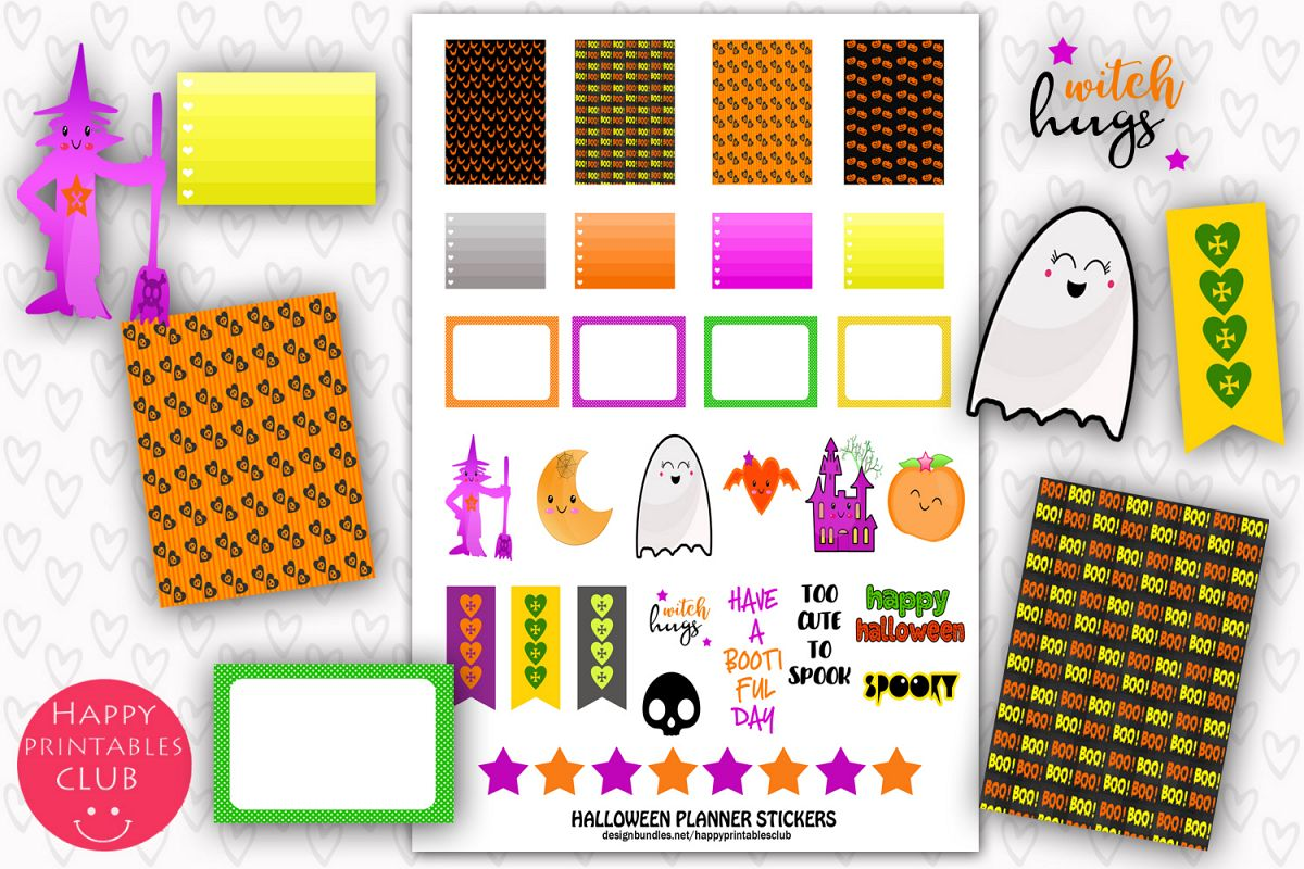 graphic about Halloween Stickers Printable known as Halloween Planner Stickers- Printable Halloween Stickers