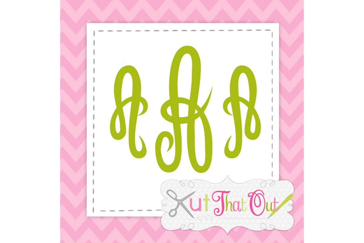 Empress Monogram Font SVG & DXF Cut File example image 1