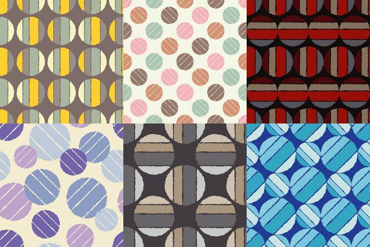 Polka dot seamless pattern. Sketch texture.  example image 1