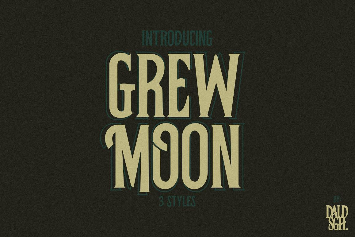 Grewmoon Fonts example image 1