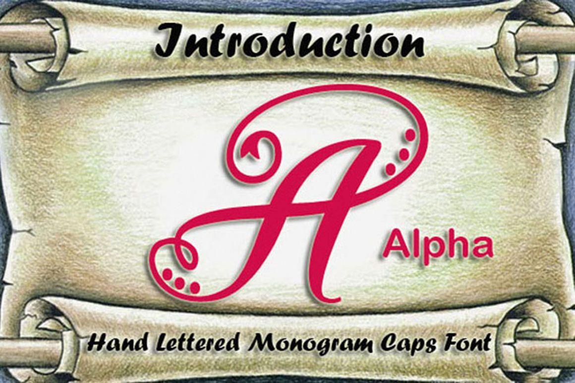Alpha Monogram example image 1