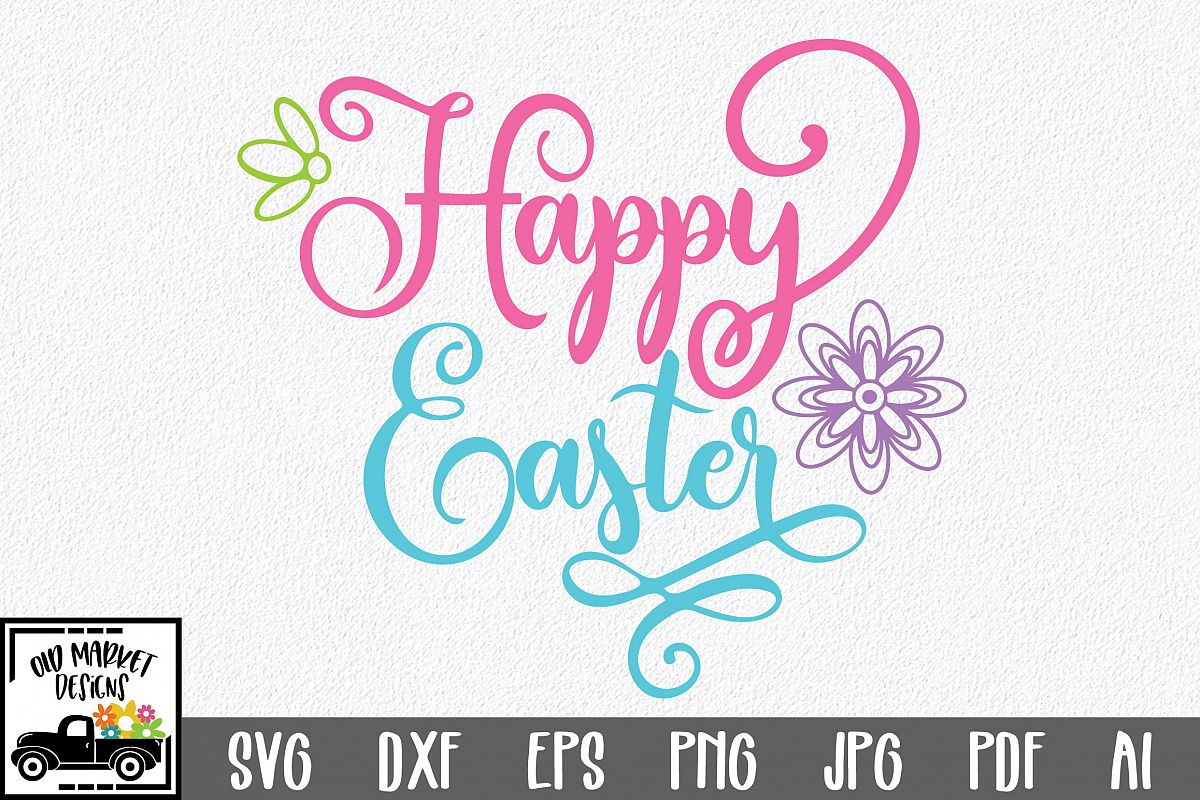 Easter SVG Cut File - Happy Easter SVG DXF EPS PNG JPG AI example image 1