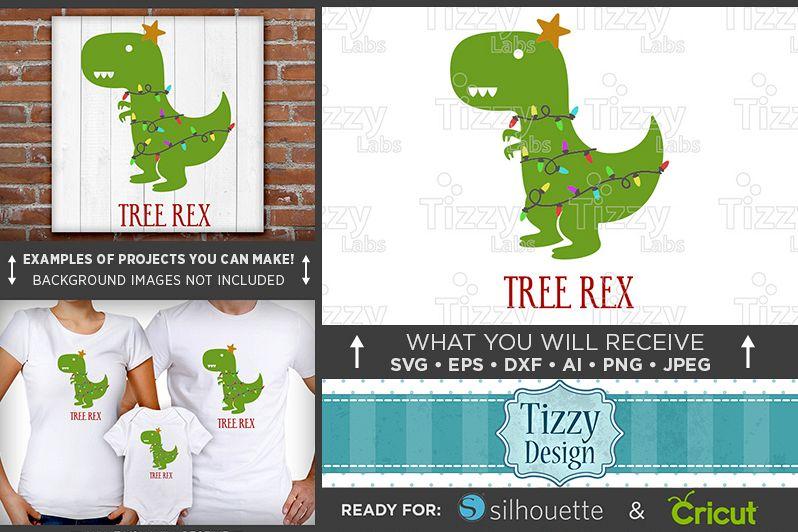 T Rex Christmas.Christmas Tree Dinosaur Dinosaur Svg Trex Svg T Rex Christmas Svg Design Tree Rex 041
