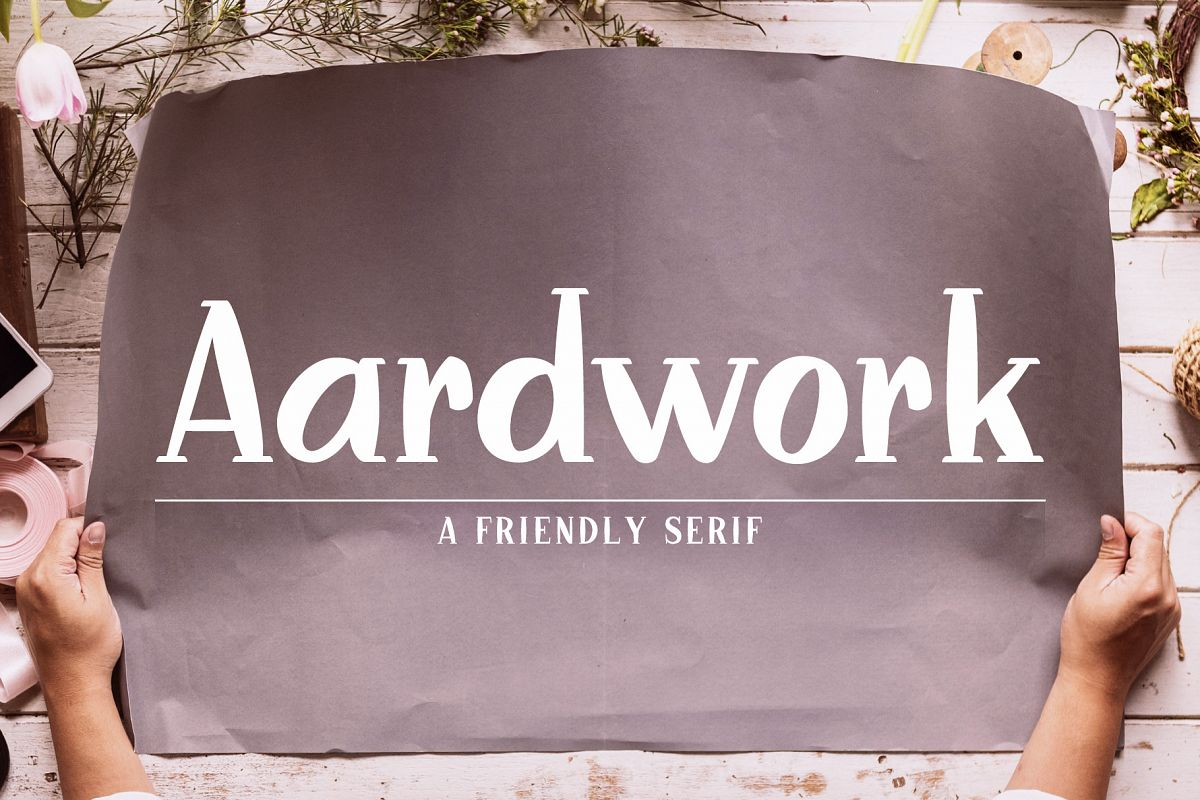 Aardwork - A Friendly Serif example image 1