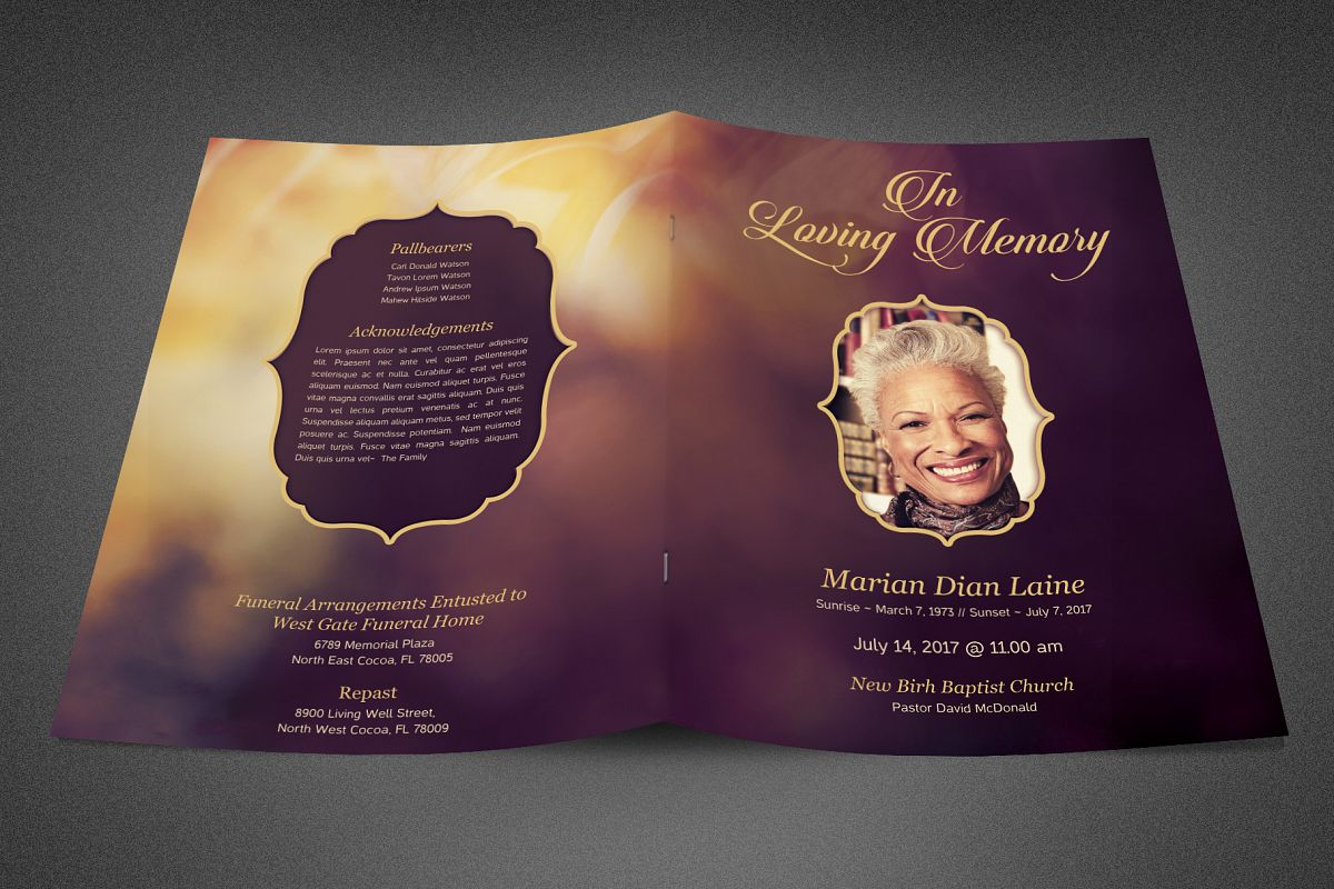 In Loving Memory Funeral Program example image 1