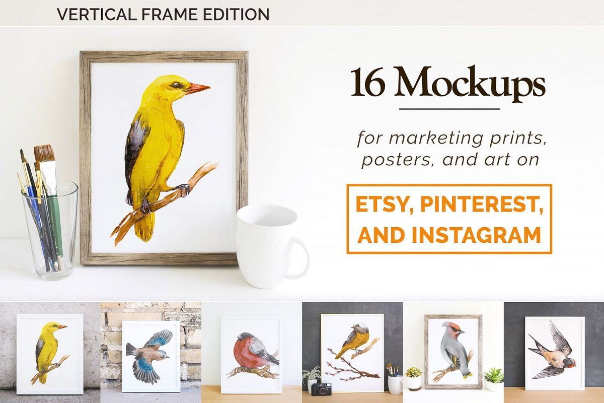 16 Etsy Friendly Print Mockups example image 1