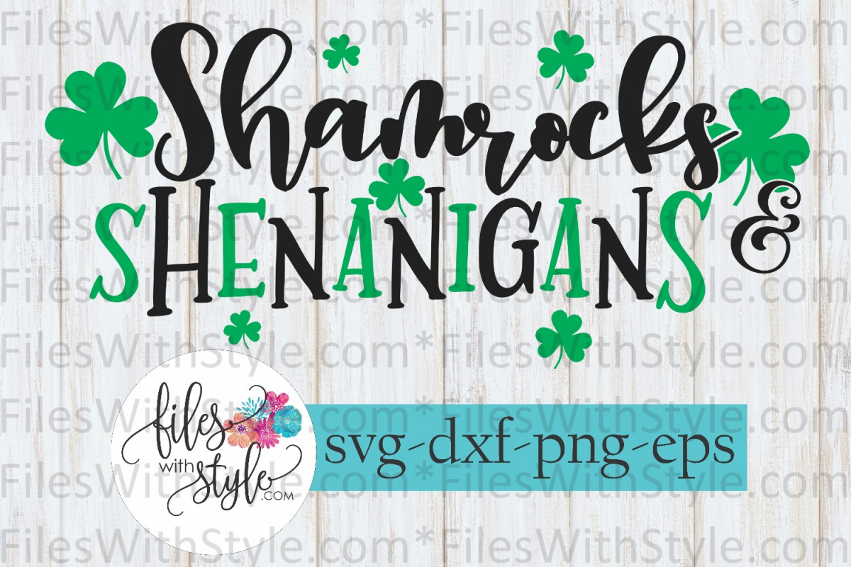 Shamrocks Shenanigans St Patrick's Day SVG Cutting Files example image 1