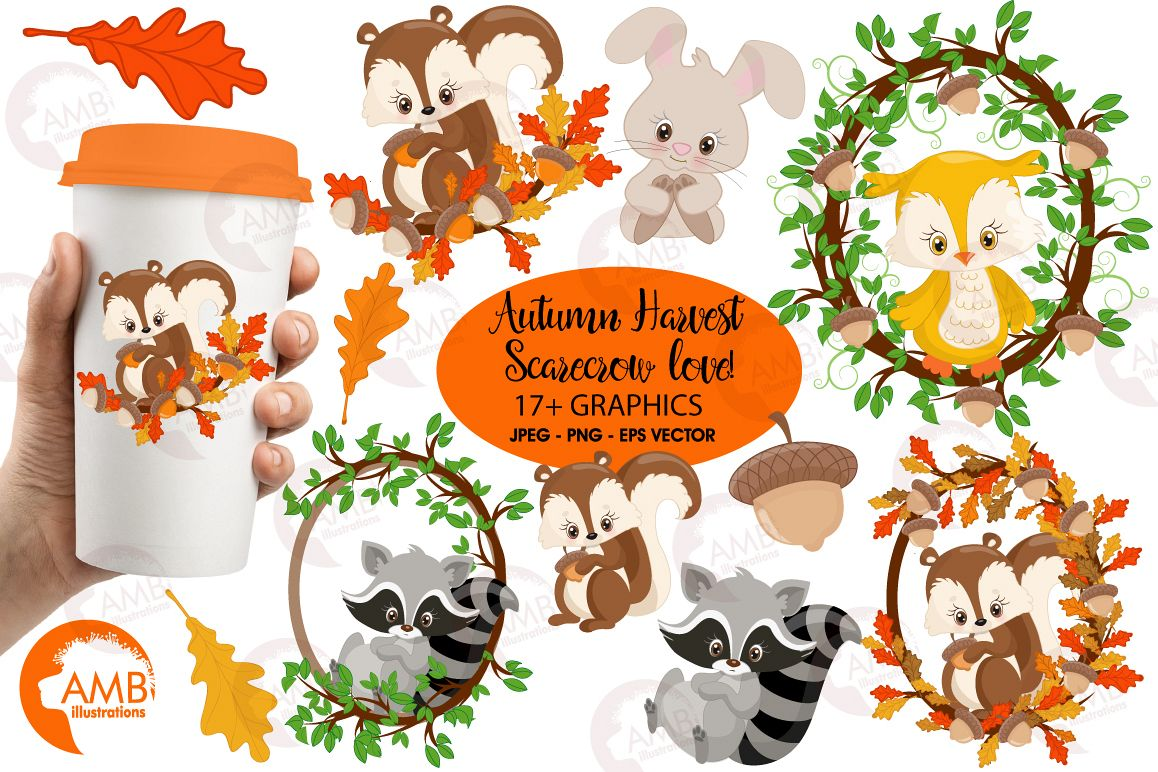 Woodland Critters clipart, graphics and illustrations AMB-1178 example image 1