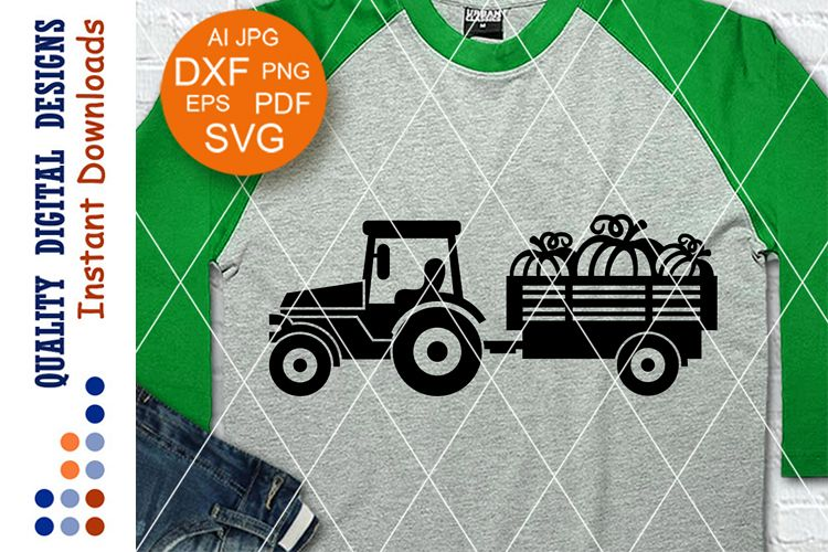 Tractor Pumpkin svg Thanksgiving decor Thankful Gratefull example image 1