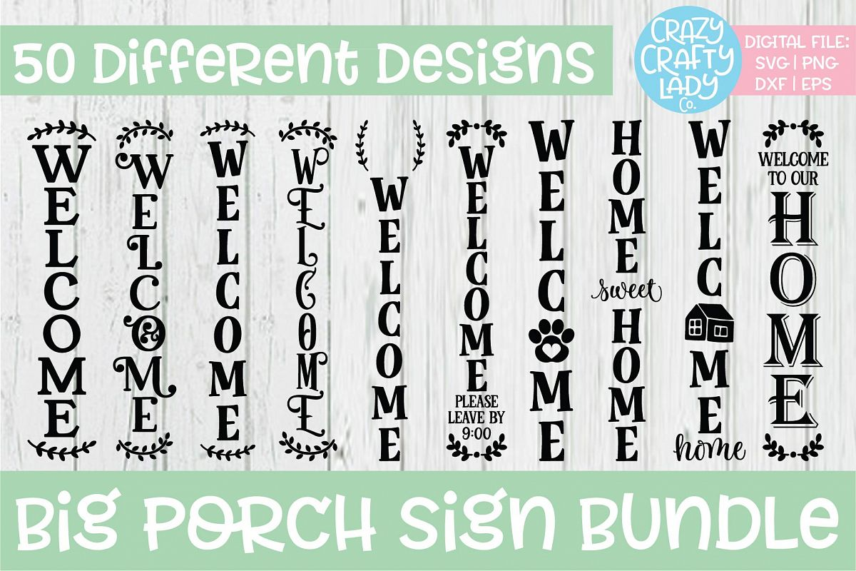 Big Porch Sign SVG DXF EPS PNG Cut File Bundle example image 1