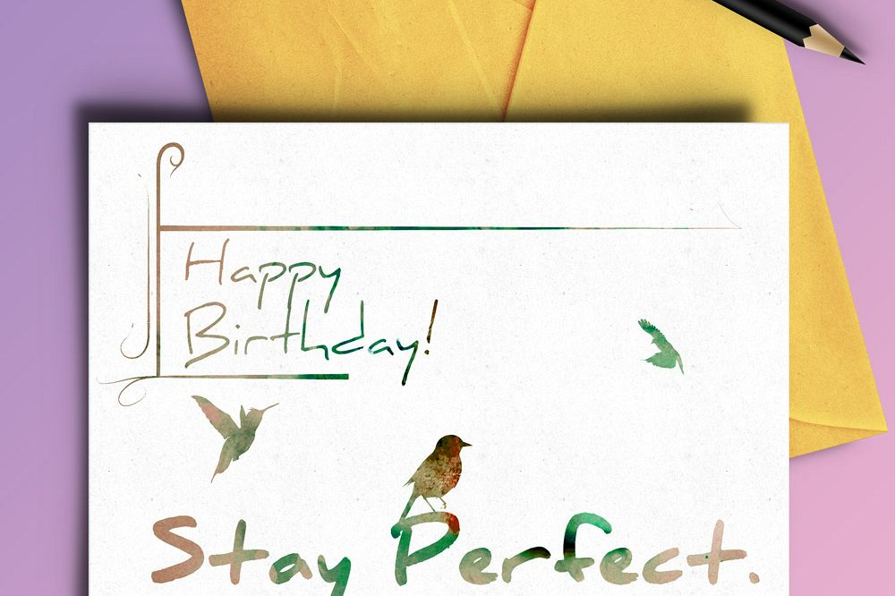 Stay Perfect Birthday Card - 4 variations example image 1