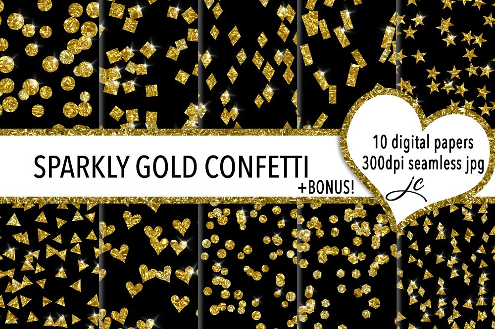 Sparkly Gold Confetti example image 1