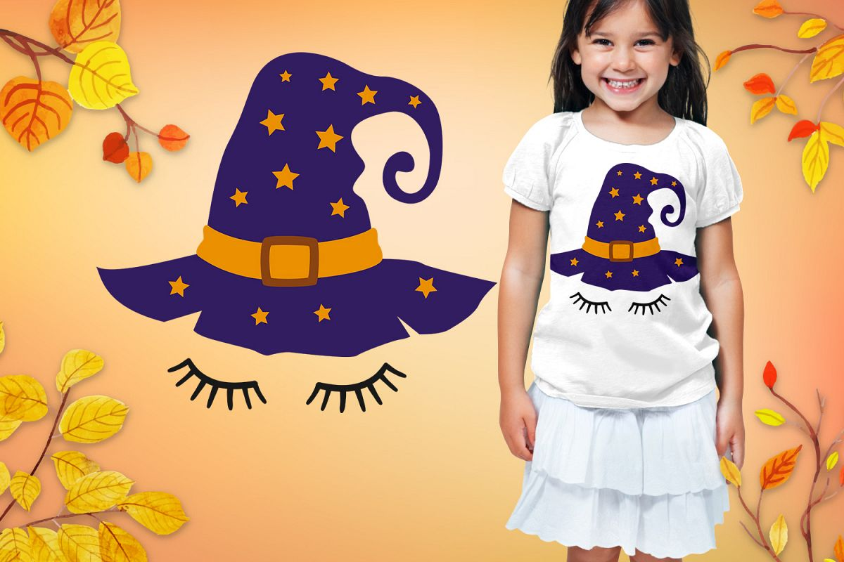 Halloween Design with Witch Hat SVG example image 1