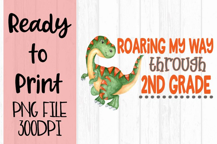 Roaring my Way Through 2nd Grade Ready to Print example image 1