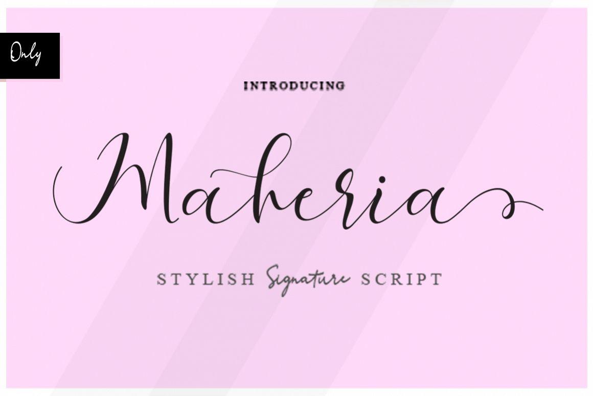Maheria Script example image 1