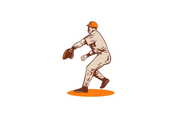 American Baseball Player Pitcher example image 1