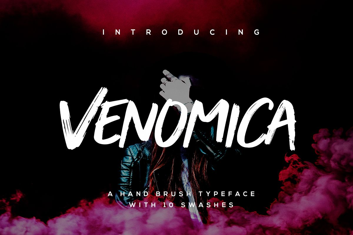 Venomica Hand Brush Typeface example image 1