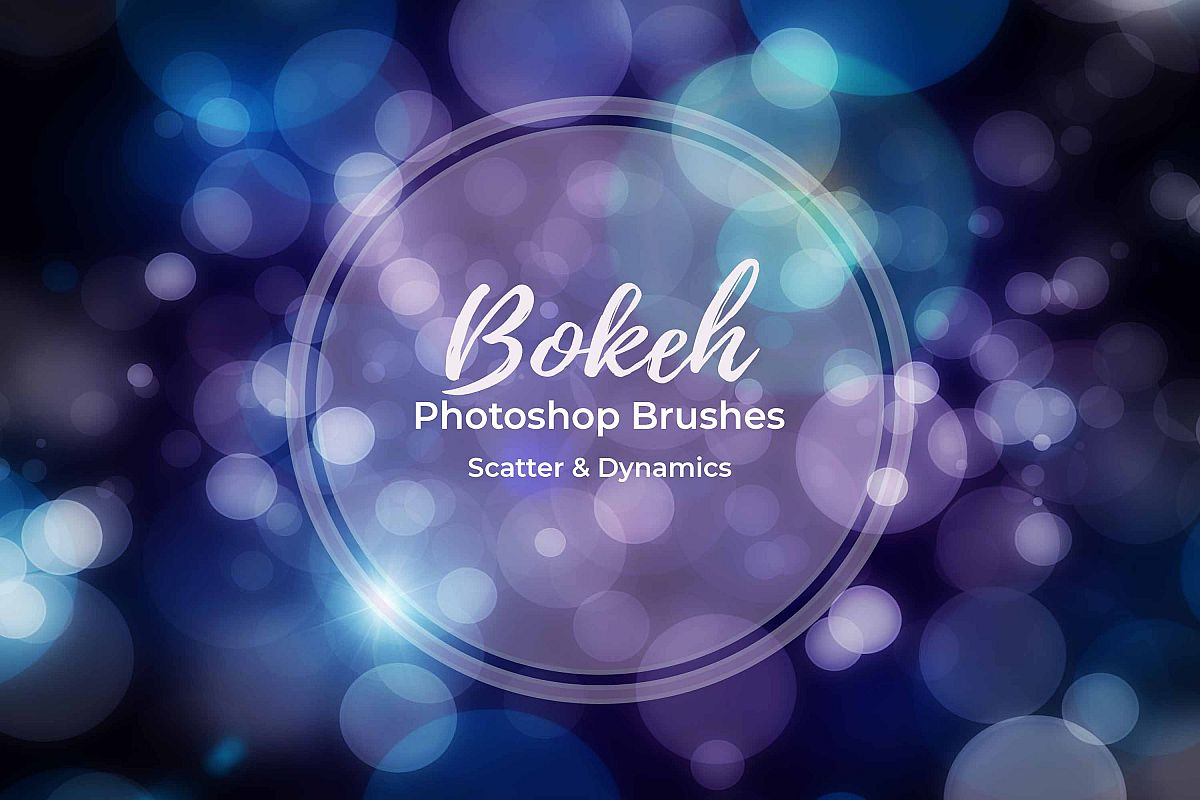 15 Bokeh Photoshop Brushes abr. - Scatter & Dynamics example image 1
