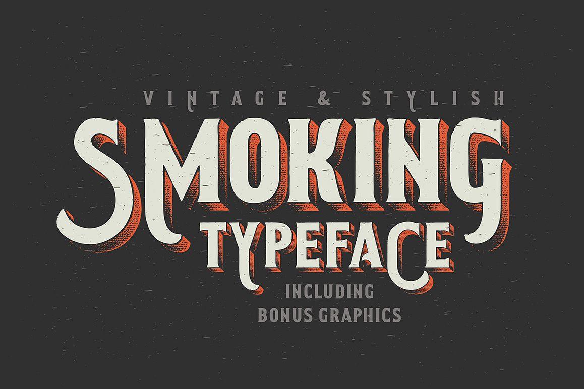Smoking typeface + Illustration example image 1