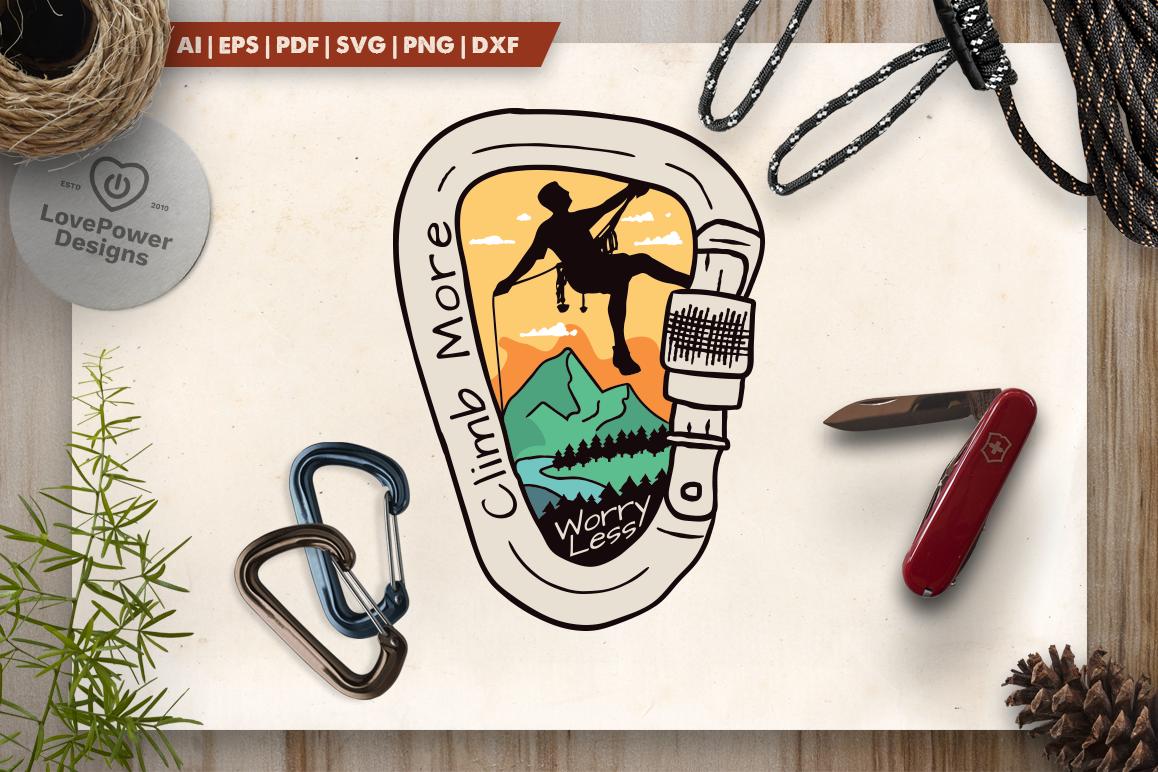 Vintage Climbing Logo Patch / Mountain Adventure SVG Badge example image 1