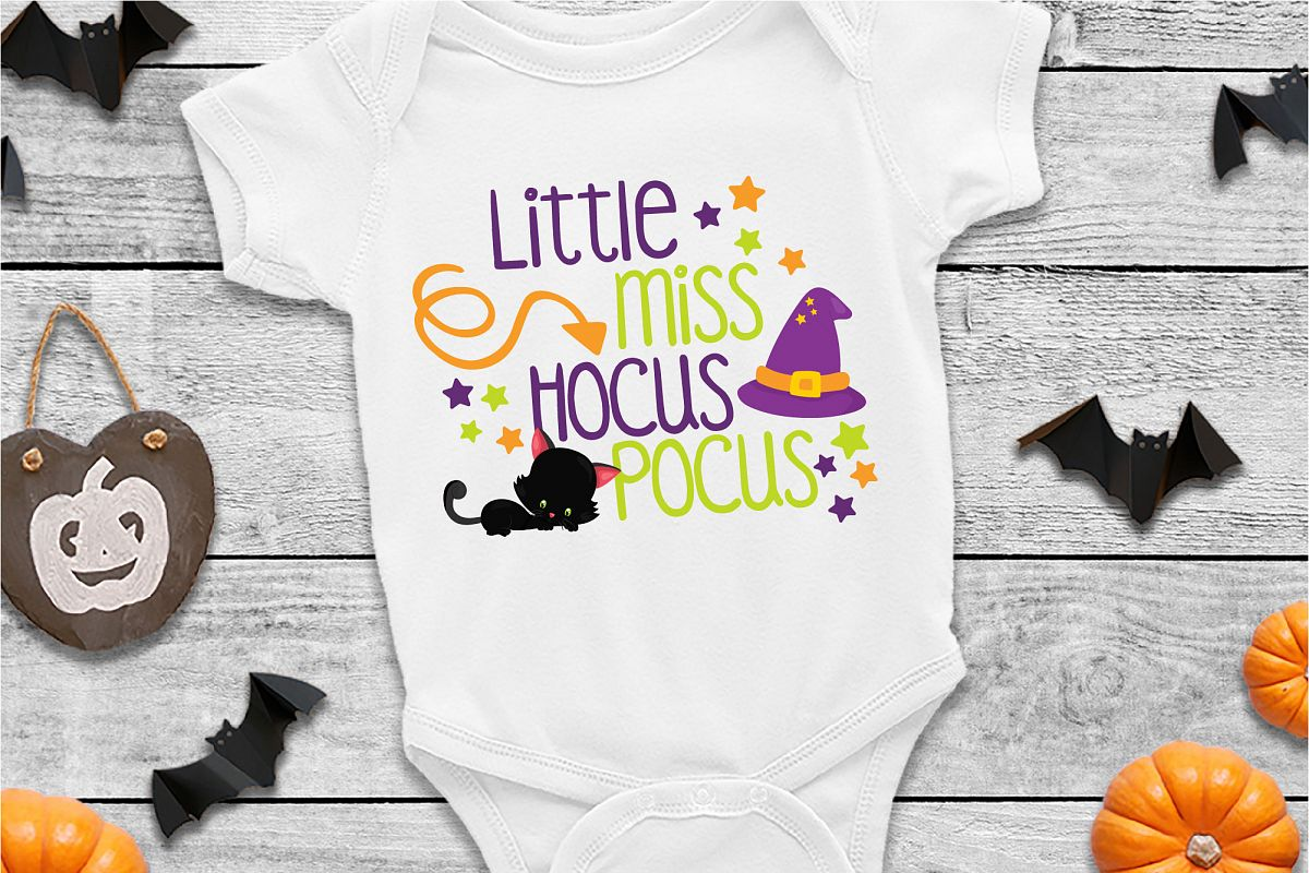 Little Miss Hocus Pocus SVG Sublimation, Halloween SVG example image 1