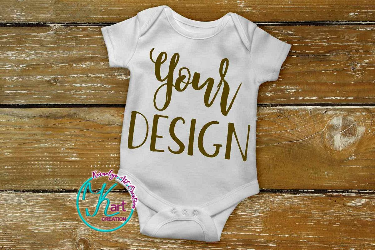 8e86b433a Blank White Baby Onepiece Mockup Bodysuit mock up example image 1