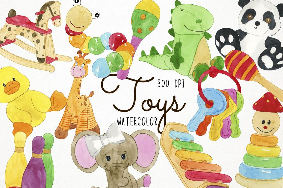 watercolor toys clipart toys clip art toy clipart rh designbundles net clipart of toy matchbox cars clip art of toy cars
