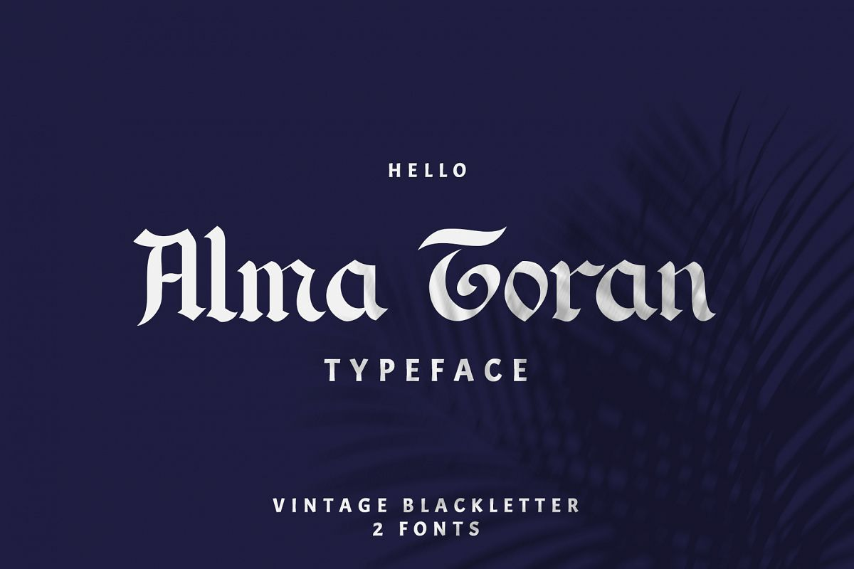 Alma Toran Typeface example image 1