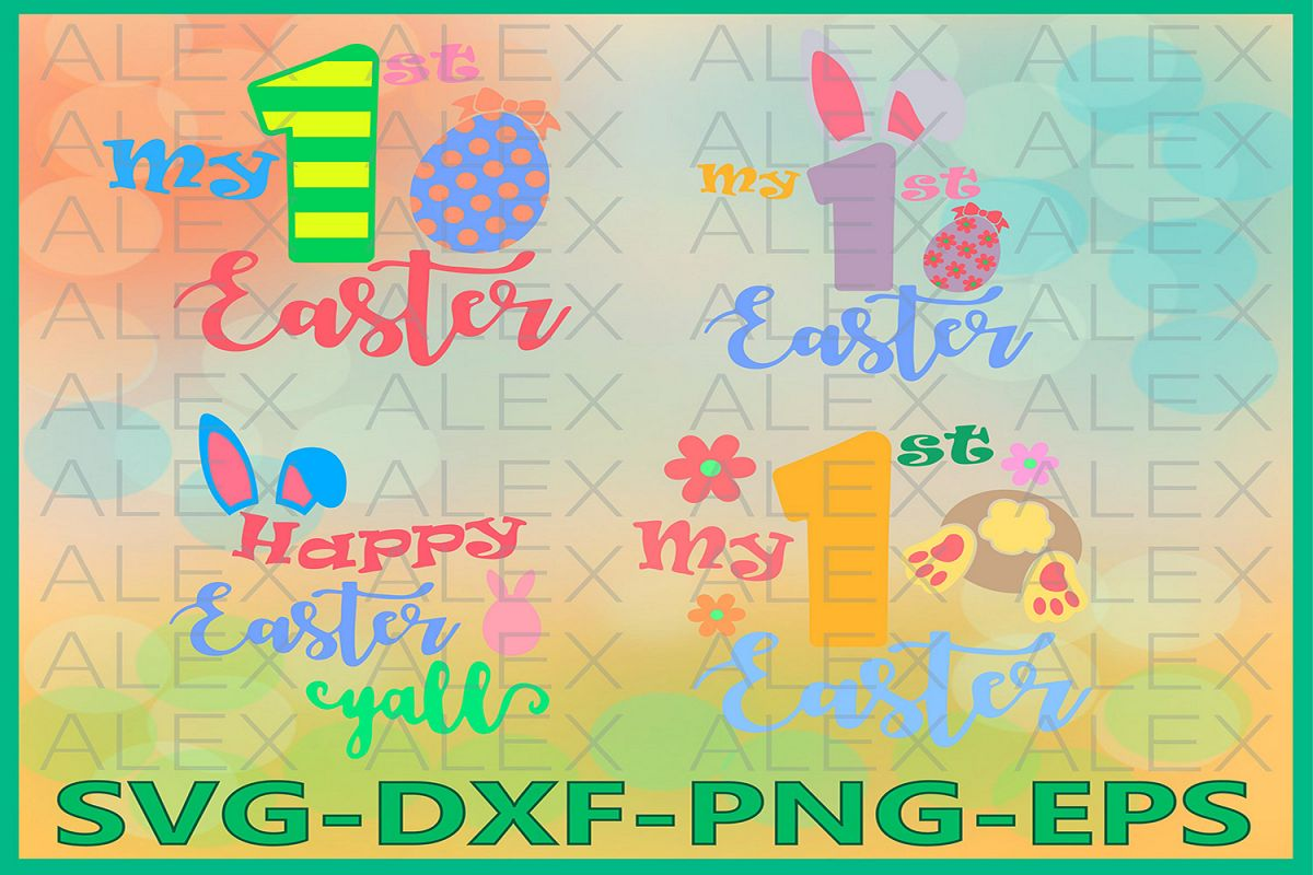My First Easter Svg, Bunny Svg, Easter SVG, My 1st Easter example image 1