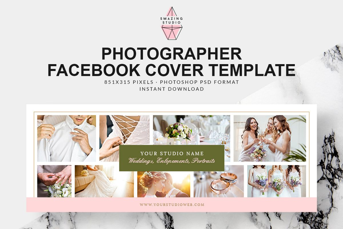 Photographer Facebook Cover Template - FBC010 example image 1