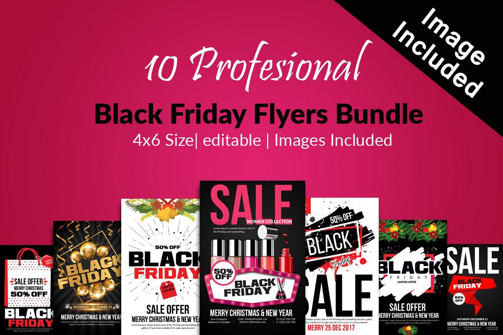 10 black friday flyers bundle example image 1