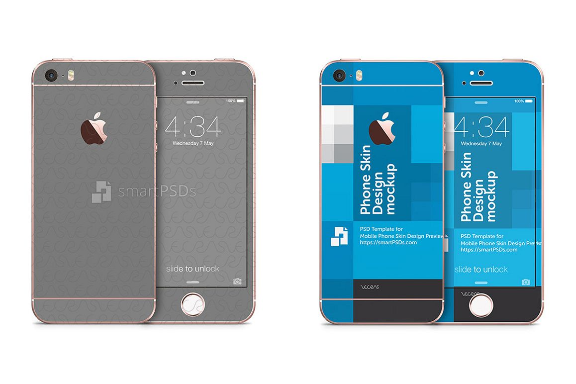 Apple IPhone 5s SE Mobile Skin Design Template 2016 Example Image 1