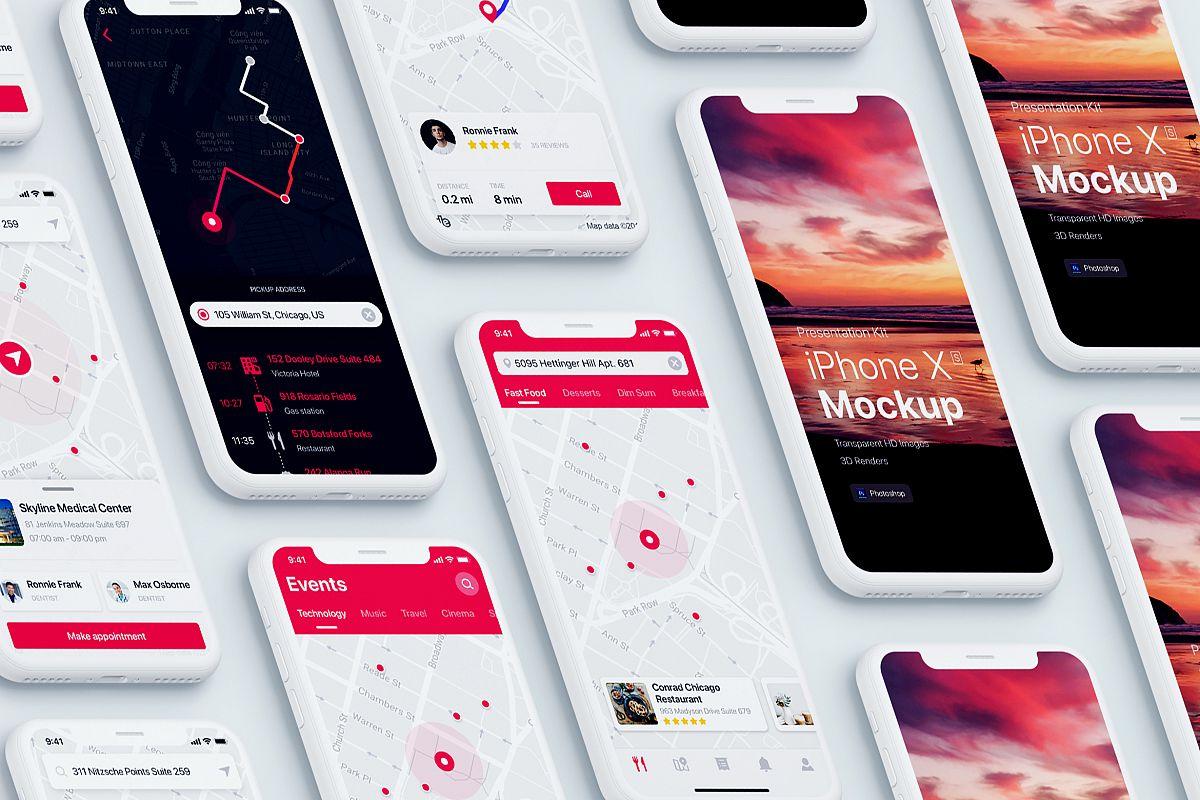 Presentation Kit - iPhone showcase Mockup_v1 example image 1
