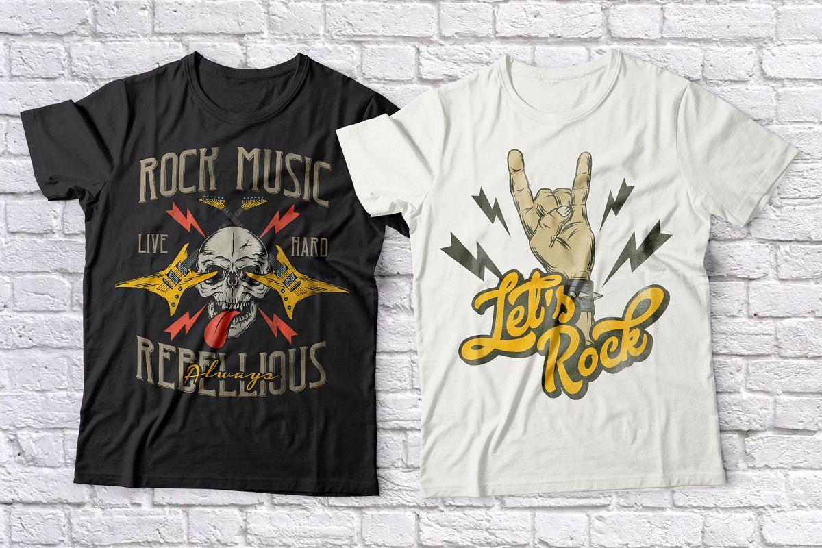 Rock Music T-shirts set example image 1