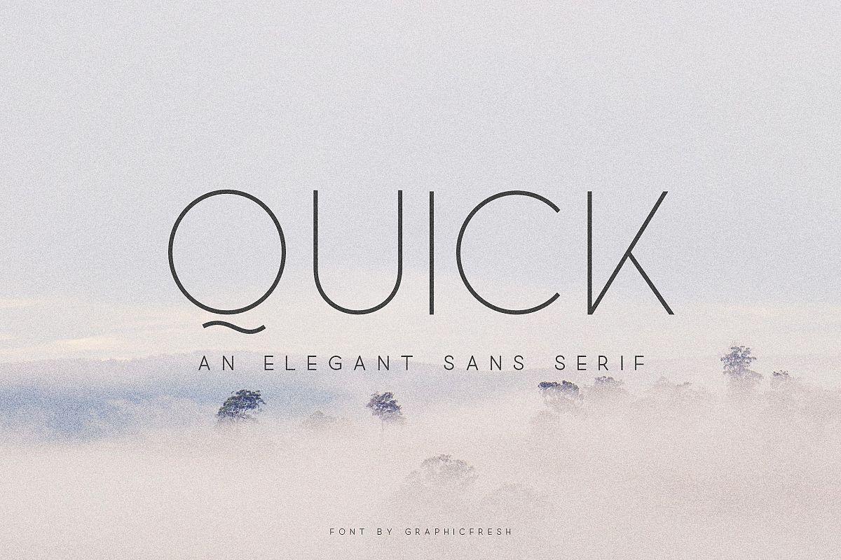 Quick - An Elegant Sans Serif example image 1