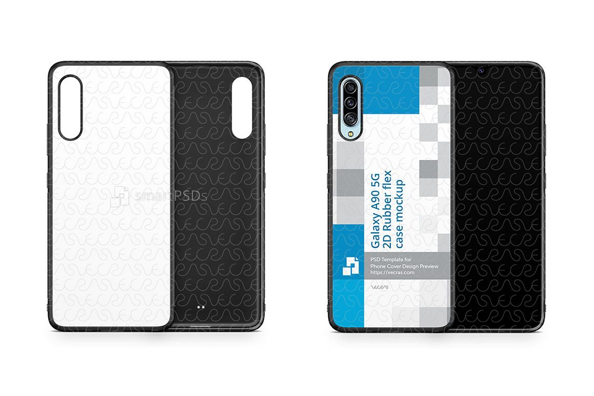 Galaxy A90 5G 2019 2d Rubber Flex Case Design Mockup example image 1
