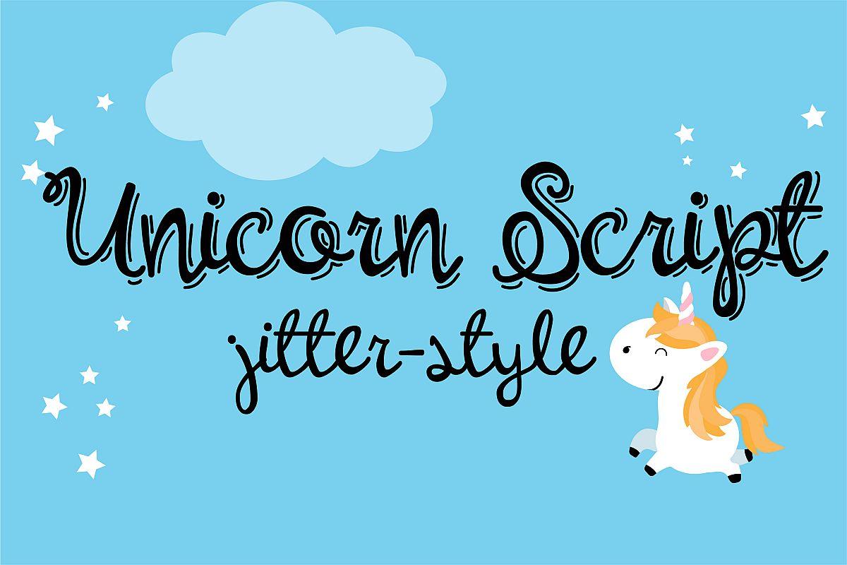 PN Unicorn Script Jitter example image 1