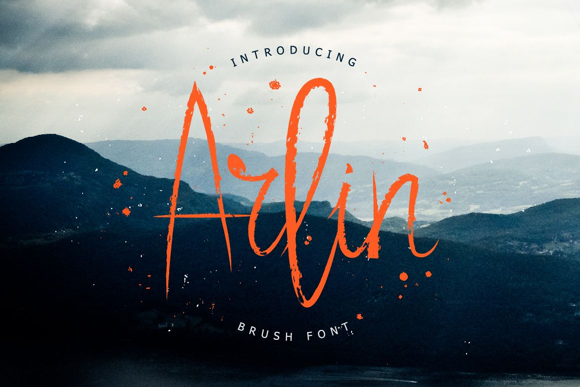 Arlin Brush Font example image 1