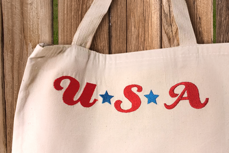 USA with Stars Embroidery Design example image 1