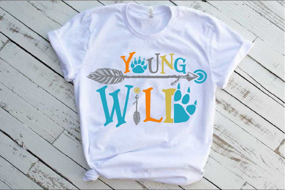 Young Wild SVG Bear Paw Arrow Stay One Birthday baby 1536s example image 1