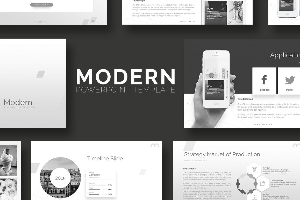 Modern - Powerpoint Template example image 1