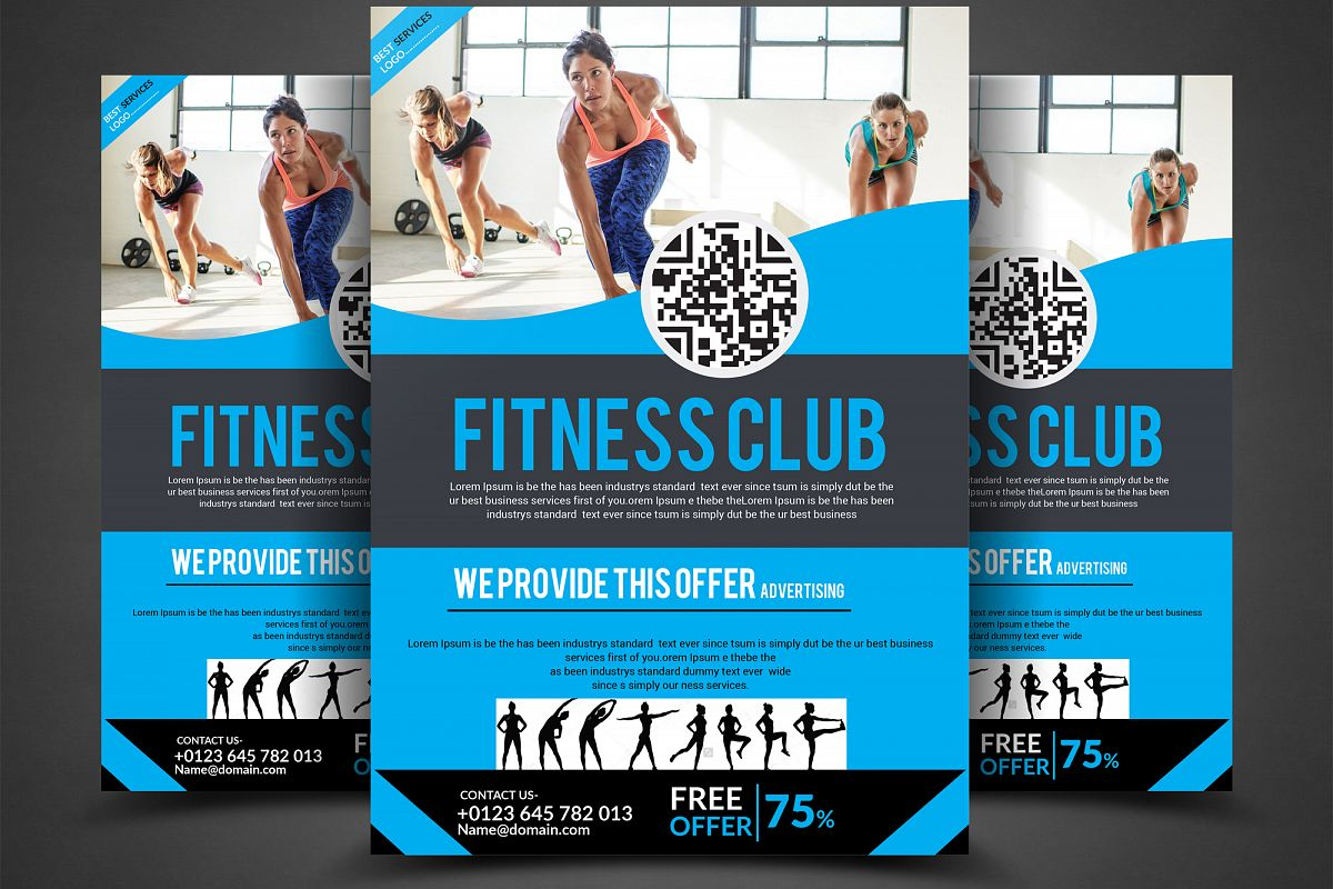 Fitness Club Flyer example image 1