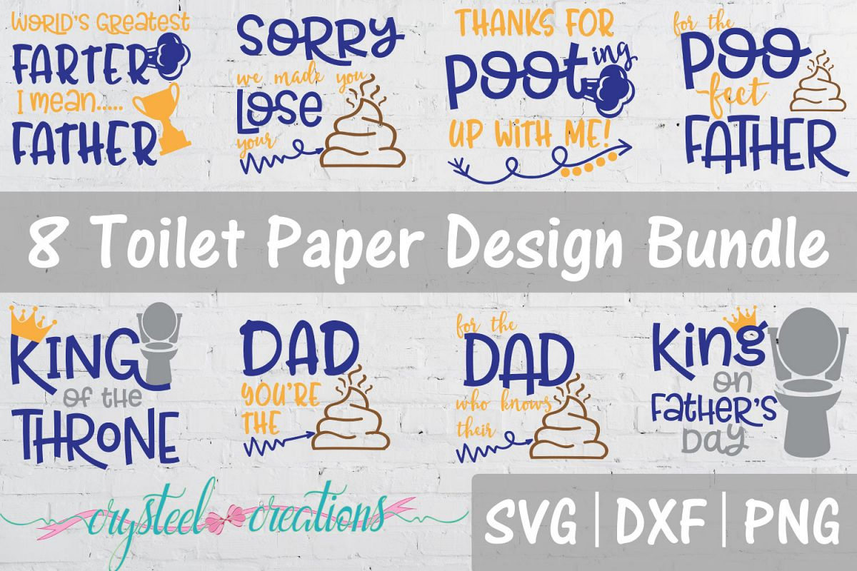 Father's Day Toilet Paper Bundle SVG, DXF, PNG example image 1