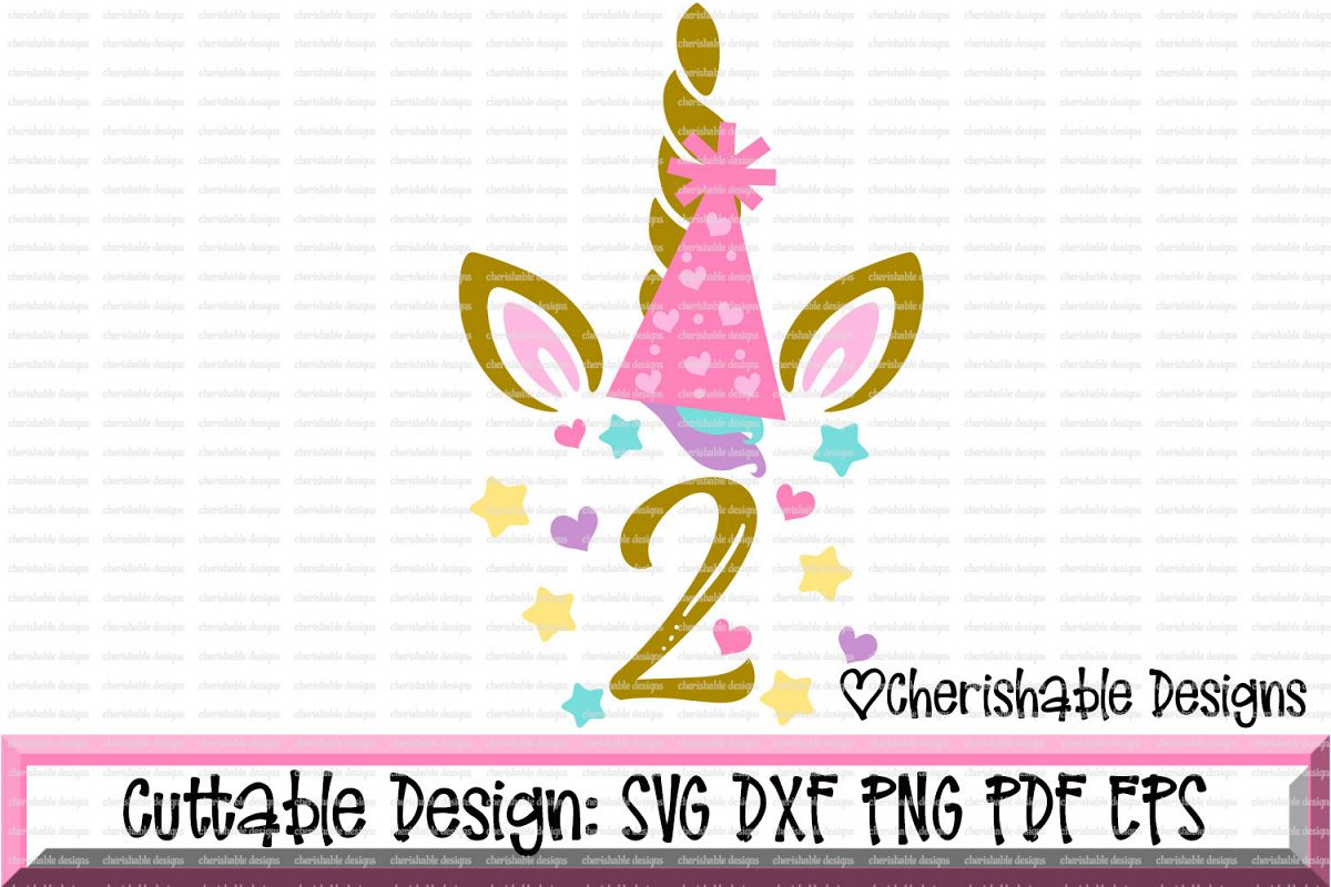 Unicorn Birthday Svg SVG Second 2nd