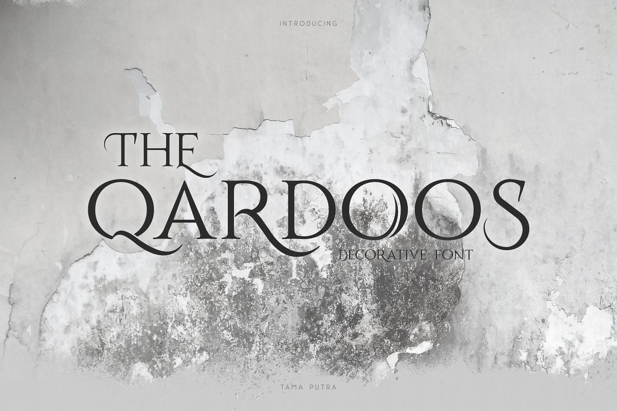 Qardoos Decorative Serif Typeface example image 1
