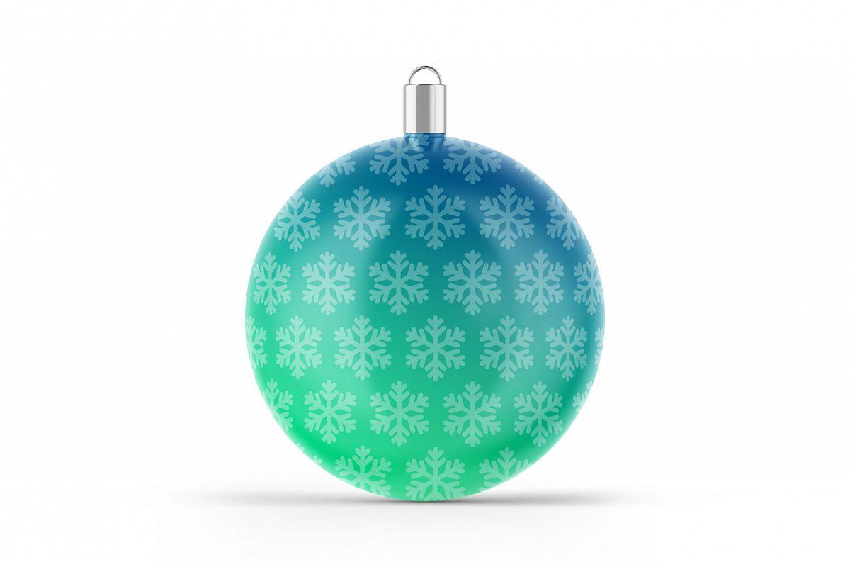 Matte Christmas Ball Mockup example image 1