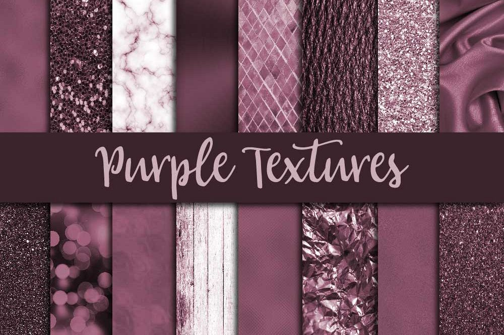 Purple Textures Digital Paper example image 1