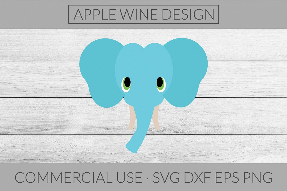 Elephant SVG DXF PNG EPS Cutting File example image 1